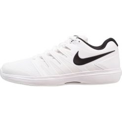 Nike Performance AIR ZOOM PRESTIGE CPT Obuwie do tenisa Indoor white/black. Białe buty do tenisa męskie Nike Performance, z gumy. Za 419,00 zł.
