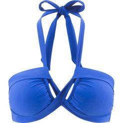 Stroje kąpielowe damskie: Biustonosz bikini bandeau bonprix niebieski