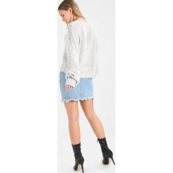 Swetry klasyczne damskie: Topshop Petite CURVED HEM CROP Sweter grey