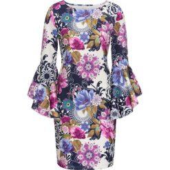 Sukienki: Sukienka bonprix lila-niebieski w kwiaty
