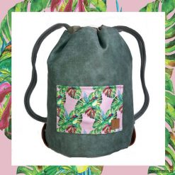 Plecaki męskie: BIRDS & DARK GREEN dwustronny plecak SACK IT!