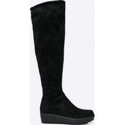 Tamaris - Kozaki. Szare buty zimowe damskie marki Tamaris, z materiału, na sznurówki. W wyprzedaży za 179,90 zł.