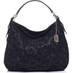 Torebki klasyczne damskie: Skórzana torebka w kolorze czarnym – 35 x 30 x 15 cm