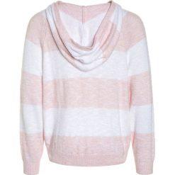 Abercrombie & Fitch COZY STRIPE HOODIE Bluza z kapturem pink. Czerwone bluzy dziewczęce rozpinane Abercrombie & Fitch, z bawełny, z kapturem. Za 179,00 zł.