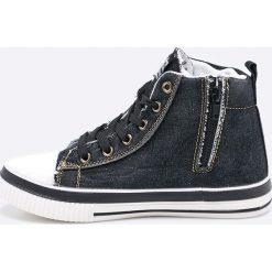 American Club - Trampki dziecięce. Szare buty sportowe chłopięce American CLUB, z materiału, na sznurówki. Za 49,90 zł.