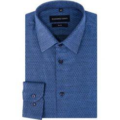 Koszula KDNS000297 SIMONE. Białe koszule męskie slim marki bonprix, z klasycznym kołnierzykiem. Za 149,00 zł.
