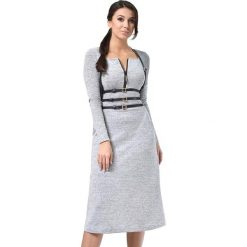 Długie sukienki: Sukienka w kolorze jasnoszarym