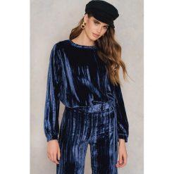 Twist & Tango Aksamitny sweter Megan - Blue. Niebieskie swetry klasyczne damskie Twist & Tango, z nylonu. W wyprzedaży za 145,79 zł.