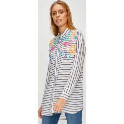 U.S. Polo - Koszula. Szare koszulki polo damskie U.S. Polo, s, w paski, z tkaniny, casualowe, z klasycznym kołnierzykiem, z długim rękawem. W wyprzedaży za 339,90 zł.