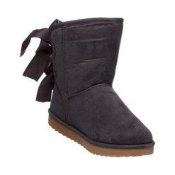 Skórzane botki w kolorze szarym. Szare buty zimowe damskie Carla Samuel, na zimę. W wyprzedaży za 129,95 zł.
