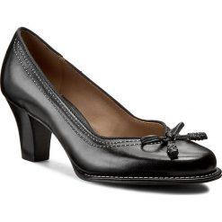 Półbuty CLARKS - Bombay Lights 203067434 Black Leather. Czarne półbuty damskie skórzane Clarks, na wysokim obcasie, na obcasie. W wyprzedaży za 279,00 zł.