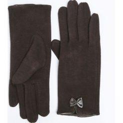 Rękawiczki damskie: RĘKAWICZKI Z KOKARDKAMI