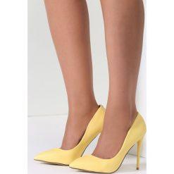 Szpilki: Żółte Szpilki Exquisite Lady