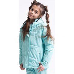 Kurtki chłopięce: Kurtka narciarska dla dużych dziewcząt JKUDN401z - miętowy jasny