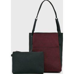 Medicine - Torebka Suffron Spice. Czarne torebki klasyczne damskie marki MEDICINE, w paski, z materiału, średnie. Za 129,90 zł.