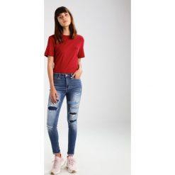 Hollister Co. SCULPT Jeans Skinny Fit destroyed denim. Szare jeansy damskie marki Hollister Co., z bawełny. W wyprzedaży za 149,40 zł.