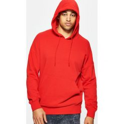 Bluzy męskie: Bluza z kapturem basic – Czerwony