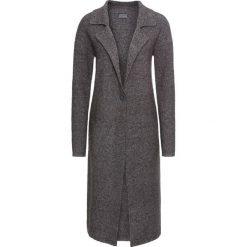 Płaszcz dzianinowy bonprix ciemnoszary melanż. Szare płaszcze damskie bonprix, melanż, z dzianiny. Za 129,99 zł.