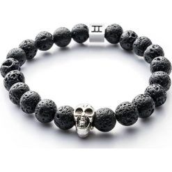 Bransoletki damskie: Bransoletka Gemini Classic Skull Black Lava C6-G