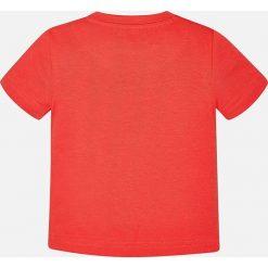 Mayoral - T-shirt dziecięcy 68-98 cm. Różowe t-shirty męskie z nadrukiem Mayoral, z bawełny. Za 54,90 zł.