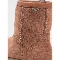 Froddo Śniegowce brown. Niebieskie buty zimowe damskie marki Froddo, z materiału, na wysokim obcasie. W wyprzedaży za 295,20 zł.