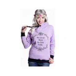 Bluzy rozpinane damskie: Bluza Na górze róże na dole fiołki