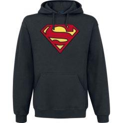 Bejsbolówki męskie: Superman Logo Bluza z kapturem czarny