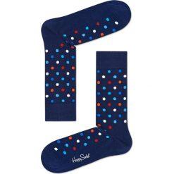 Happy Socks - Skarpety Dot. Niebieskie skarpetki męskie Happy Socks, z bawełny. Za 39,90 zł.