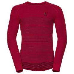 Odlo Koszulka męska Shirt l/s crew neck GOD bordowa r. L (192132). Szare koszulki sportowe męskie marki Odlo. Za 149,95 zł.