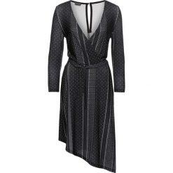 Sukienki asymetryczne: Sukienka kopertowa bonprix czarno-biały wzorzysty