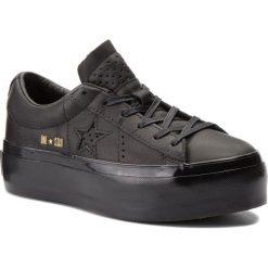 Sneakersy CONVERSE - One Star Platform Ox 559898C Black/Black/Black. Czarne sneakersy damskie Converse, z gumy. W wyprzedaży za 299,00 zł.