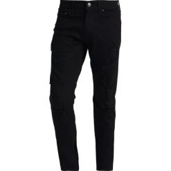 Hollister Co. Jeansy Slim Fit saturated black destroy. Czarne jeansy męskie Hollister Co. Za 249,00 zł.