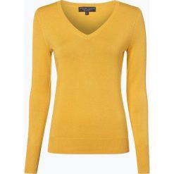 Marie Lund - Sweter damski, żółty. Niebieskie swetry klasyczne damskie marki Marie Lund, l, z haftami. Za 129,95 zł.