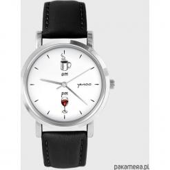 Zegarek - Kawa i wino - skóra, czarny. Czarne zegarki męskie Pakamera. Za 139,00 zł.