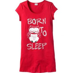 Koszula nocna bonprix truskawkowy - sowa. Czerwone koszule nocne i halki bonprix. Za 34,99 zł.