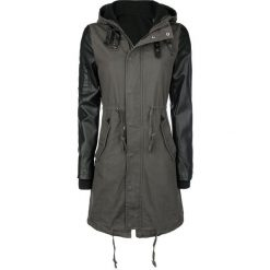 Forplay Imitation Leather Sleeves Army Jacket Kurtka damska oliwkowy/czarny. Czarne bomberki damskie Forplay, s, w paski, z polaru. Za 284,90 zł.