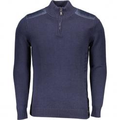 Sweter w kolorze granatowym. Niebieskie golfy męskie marki GALVANNI, l, z okrągłym kołnierzem. W wyprzedaży za 349,95 zł.