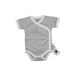 Ebi & Ebi  Fairtrade Body dziecięce - beżowy. Niebieskie body niemowlęce marki Ebi & Ebi, z bawełny, z długim rękawem. Za 49,00 zł.