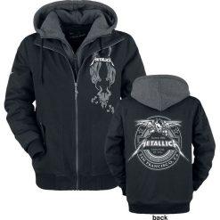 Metallica EMP Signature Collection Kurtka melanż czarny/szary. Czarne kurtki męskie bomber Metallica, na zimę, l, z aplikacjami, z kapturem. Za 599,90 zł.