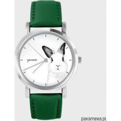 Zegarek - Królik - zielony, skórzany. Zielone zegarki damskie Pakamera. Za 139,00 zł.
