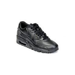 Buty Dziecko Nike  AIR MAX 90 LEATHER GRADE SCHOOL. Czarne trampki chłopięce Nike. Za 413,10 zł.