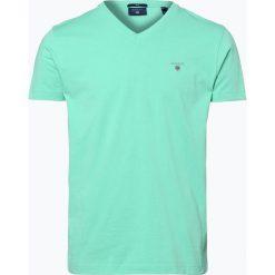 Gant - T-shirt męski, zielony. Zielone t-shirty męskie marki GANT, l, z bawełny, z klasycznym kołnierzykiem. Za 129,95 zł.