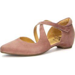 """Rzymianki damskie: Skórzane sandały """"Imma"""" w kolorze jasnoróżowym"""