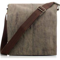 BRĄZOWA TORBA MĘSKA HAROLD`S MESSENGER. Brązowe torby na ramię męskie marki Kazar, ze skóry, przez ramię, małe. Za 119,90 zł.