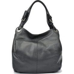 Skórzana torebka w kolorze czarnym - (S)32 x (W)45 x (G)12 cm. Czarne shopper bag damskie Carla Ferreri, z materiału. W wyprzedaży za 289,95 zł.