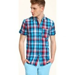 Koszulki męskie: KOSZULA KRÓTKI RĘKAW MĘSKA SLIM FIT
