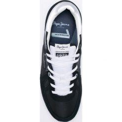 Pepe Jeans - Buty. Czarne halówki męskie Pepe Jeans, z jeansu, na sznurówki. W wyprzedaży za 219,90 zł.