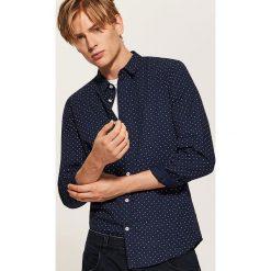 Koszula w kropki - Granatowy. Niebieskie koszule męskie House, l, w kropki. Za 79,99 zł.