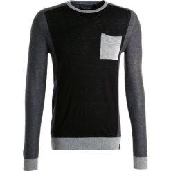 Swetry klasyczne męskie: Teddy Smith POKOS  Sweter noir