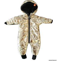 Kombinezon zimowy zewnętrzny złoty - ściągacze. Żółte kombinezony niemowlęce Pakamera, na zimę, z polaru. Za 219,00 zł.